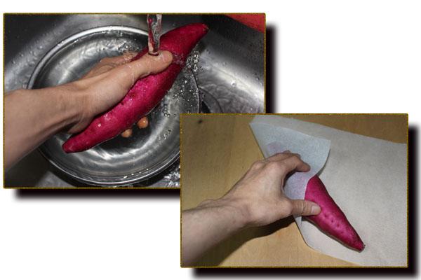 焼き芋下準備