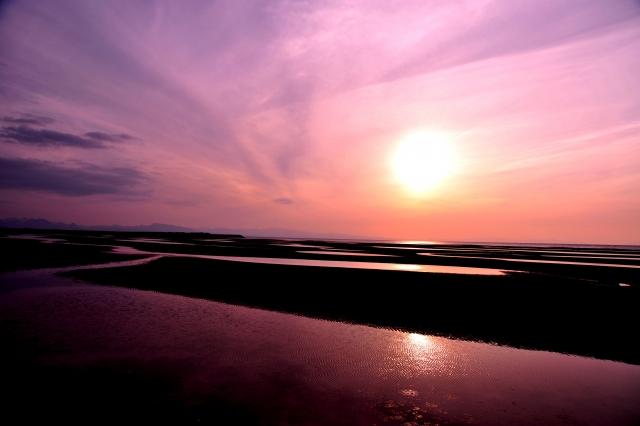 真玉海岸夕日