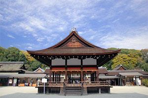京都の下鴨神社で厄払い