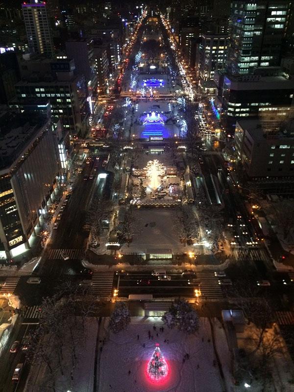 札幌ホワイトイルミネーションテレビ塔から
