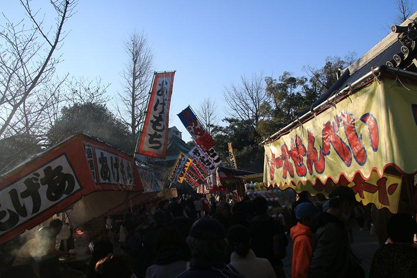 西新井大師初詣出店