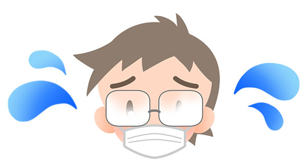 マスクをするとメガネが曇る理由